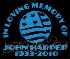 USA Stars & Stripes In Loving Memory Of... 6 Memorial decal Sticker