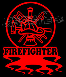 Firefighter 3 Decal Sticker