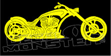 Low Rider Motorcycle Silhouette 1 Decal Sticker