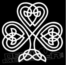 Celtic Shamrock 1 Decal Sticker