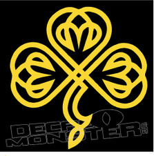 Celtic Clover 5 Decal Sticker