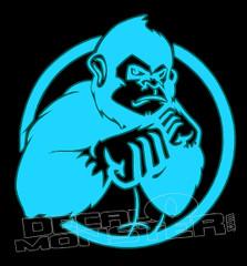 One punch Gorilla Decal Sticker