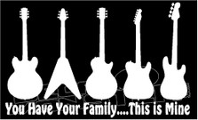 Guitar Family vs. Yours Decal Sticker