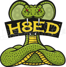 H8ed Snake Decal Sticker