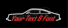 Chevrolet Vega Hatchback Coupe (1974-1977) Silhouette Decal Sticker