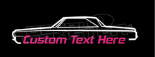 1964 Dodge Polara 2-door Hardtop (Custom Text) Silhouette Decal Sticker