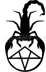 Scorpion Pentagram Decal Sticker