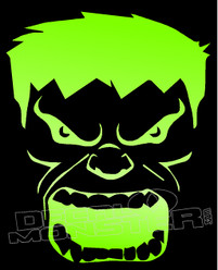 Angry Hulk Silhouette 1 Decal Sticker