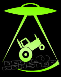 Aliens UFO Beam Up Tractor Decal Sticker