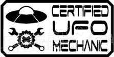 Certified UFO Mechanic Decal Sticker