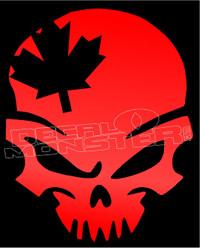 Canadian Skull 1 Decal Sticker
