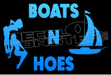 Boats N Hoes 1 Decal Sticker