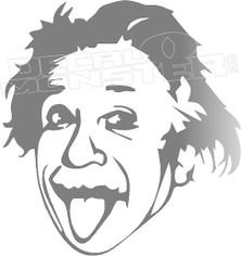 Albert Einstein Silhouette 1 Decal Sticker