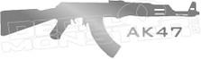 AK-47 Silhouette 1 Decal Sticker