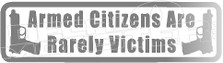 Armed Citizens Gun Quote 1 Decal Sticker