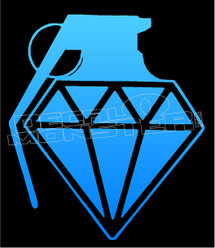 Diamond Supply co Grenade 1 Decal Sticker
