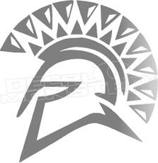 Spartan Silhouette 4 Decal Sticker