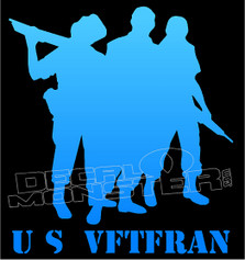 US Veteran Silhouette 2 Decal Sticker