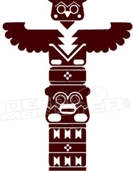 Native Totem Pole 1 Decal Sticker