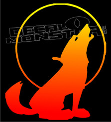 Wolf Silhouette 12 Decal Sticker