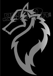 Silver Wolf Silhouette 13 Decal Sticker