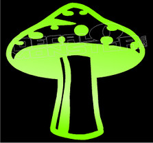 Magic Mushroom Silhouette 1 Decal Sticker