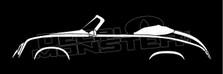 Porsche 356 Pre-A Convertible Silhouette Decal Sticker