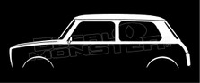 Mini Clubman Classic Silhouette Decal Sticker