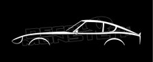 Datsun 240z (nissan s30) Classic Sports Car Silhouette Decal Sticker