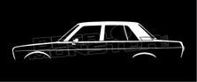 Datsun Bluebird 4-door Sedan Classic Silhouette Decal Sticker
