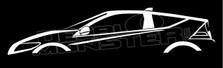 Honda CR-Z Sports Hybrid Silhouette Decal Sticker