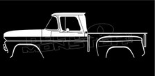 Chevrolet C10 Stepside 1960-1963 Classic Truck Silhouette Decal Sticker