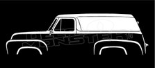 Ford F-100 Panel Van Classic Truck Silhouette Decal Sticker