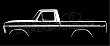 Ford F100 - F150 Classic Pickup Truck Silhouette Decal Sticker