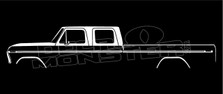 Ford F150 Crew Cab Long Bed (1973-1979) Classic Silhouette Decal Sticker