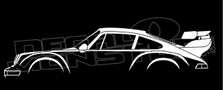 Porsche 911 Turbo 964 RWB Style Silhouette Decal Sticker