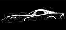 Dodge SRT Viper Silhouette Decal Sticker