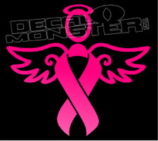 Cancer Angel Decal Sticker