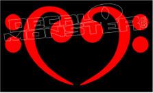 Bass Music Love 8 Decal Sticker