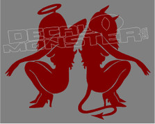 Angel and Devil Sexy Girls 1 Decal Sticker