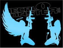 Angel and The Devil Guns Decal Sticker