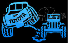 Toyota Pisses On Jeep Decal Sticker