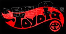 Hotwheels Toyota 1 Decal Sticker