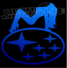 Subaru Hot Chick 1 Decal Sticker