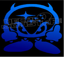 Subaru Devil F Off Guy 1 Decal Sticker