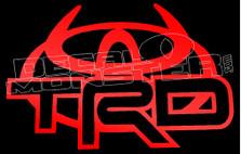 Toyota TRD Outline Devil 7 Decal Sticker