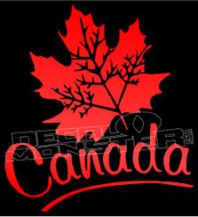 Canada Retro Leaf 14 Decal Sticker