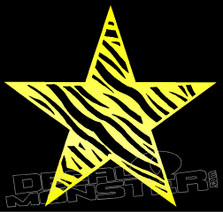 Star Zebra Skin Decal Sticker
