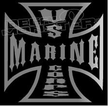 US Marine Corps Iron Cross Decal Sticker