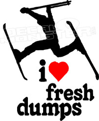 I Heart Love Fresh Dumps Decal Sticker